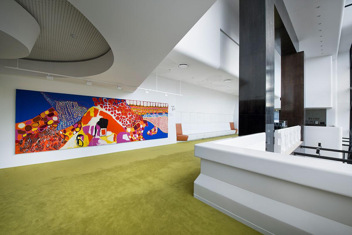 Melbourne Recital Centre, 'Dulka Warngiid (Land of All', 2007. Photo: John Gollings