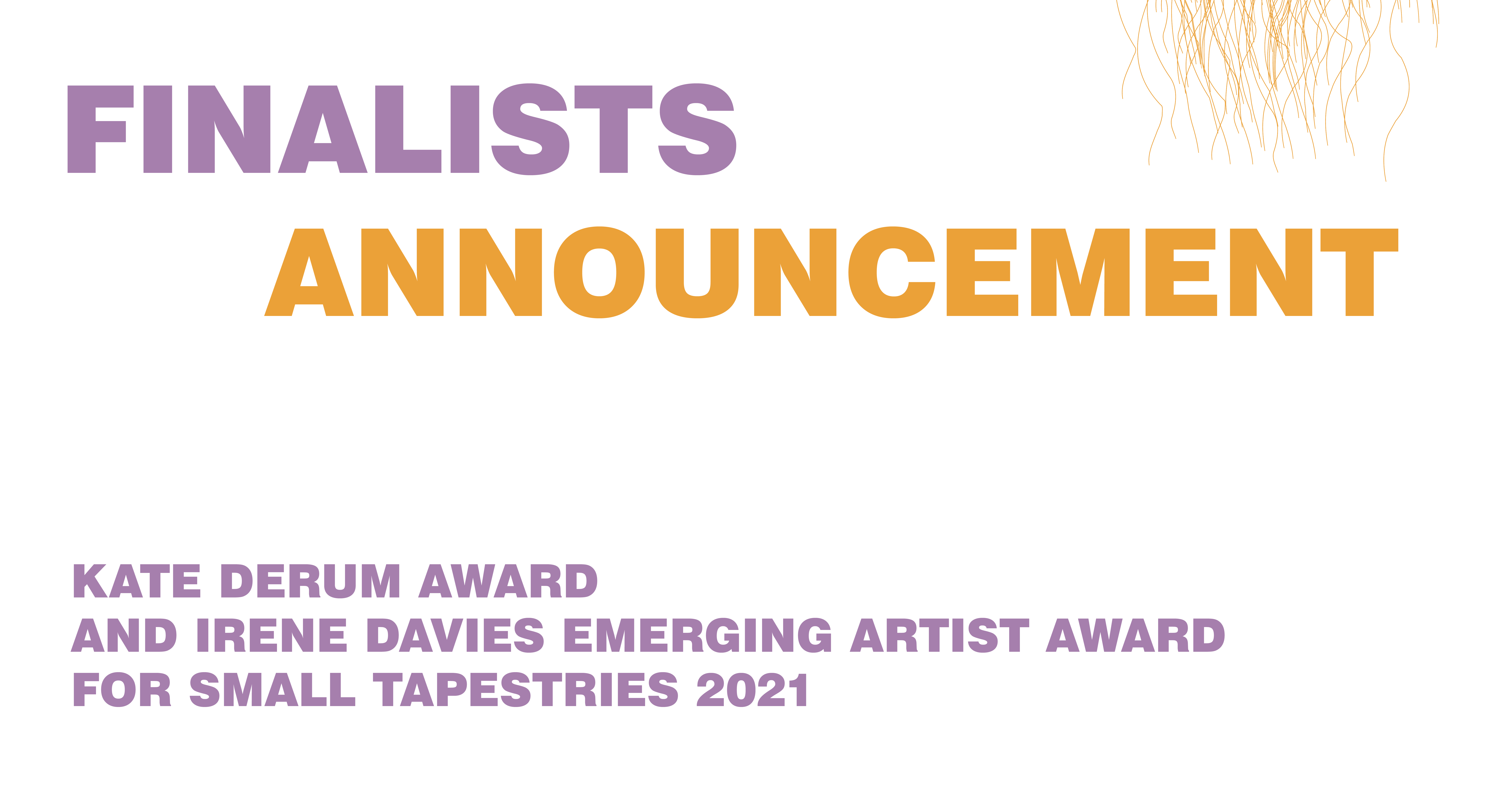 Kate Derum Award & Irene Davies Award Finalists