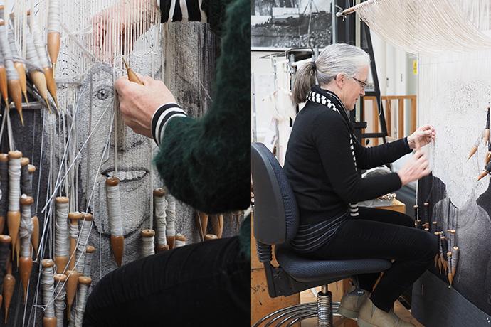 The Honourable Margaret Lusink AM, 2019, woven by Pamela Joyce, wool, cotton, 0.9 x 0.7m. Photographs:Peter Ittak.